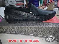 Туфли мокасины летние кожаные Мида Mida арт. 13172
