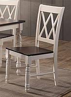 Деревянный обеденный стул Дженни, цвет ваниль-вишня антик