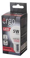 Светодиодная лампа Ergo Standard E27 5W G45