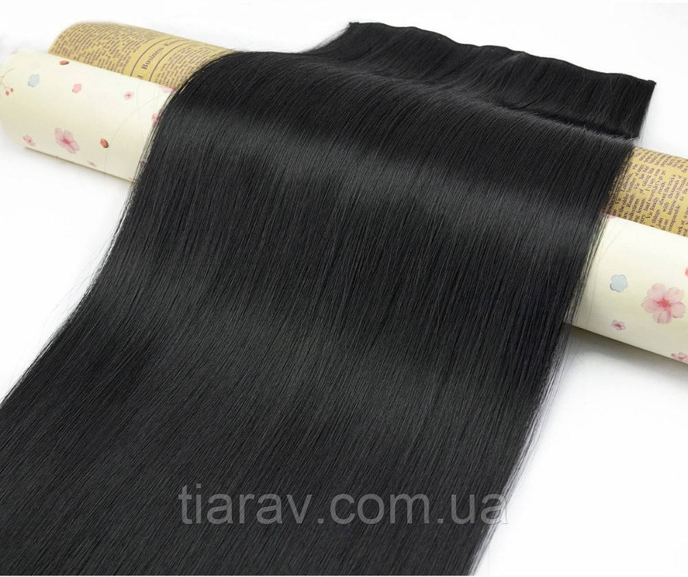 Волосы на заколках, волосся на заколках, прямые 60 см трессы волосы