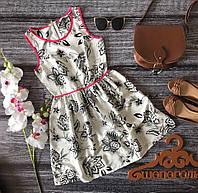 Легкое платье романтичного фасона в нежный цветочный принт   DR17100