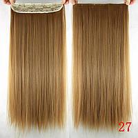 Волосы на заколках волосся на заколках на клипах русый прямые волосы 60 см тресс