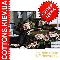 Комплект двуспального постельного белья 3D (коттон) Шоколадная роза