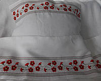 Детское постельное белье Крыжма с вышивкой Барвинок лен