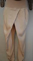 Летние стильные брюки на запах цвета крем. Италия