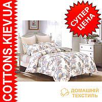 Комплект двуспального евро сатинового постельного белья Весенняя ТМ UG