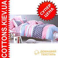Комплект двуспального евро сатинового постельного белья Звезда ТМ UG