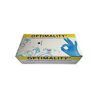 Перчатки нитриловые Оптималити неопудренные 100 шт