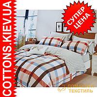 Комплект двуспального евро сатинового постельного белья Александрия ТМ UG