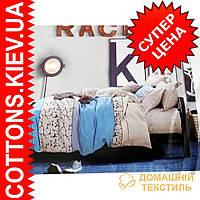 Комплект двуспального евро сатинового постельного белья Сева ТМ UG