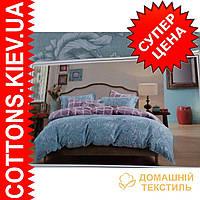 Комплект двуспального евро сатинового постельного белья Юджилия ТМ UG