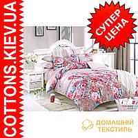 Комплект двуспального евро сатинового постельного белья Летняя ТМ UG