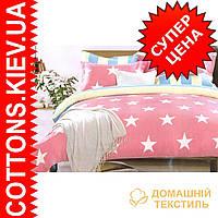 Комплект двуспального евро сатинового постельного белья Звездная ТМ UG