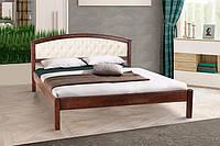 Кровать Джульетта 1,4 мягкое изголовье орех темный (Микс-Мебель ТМ)