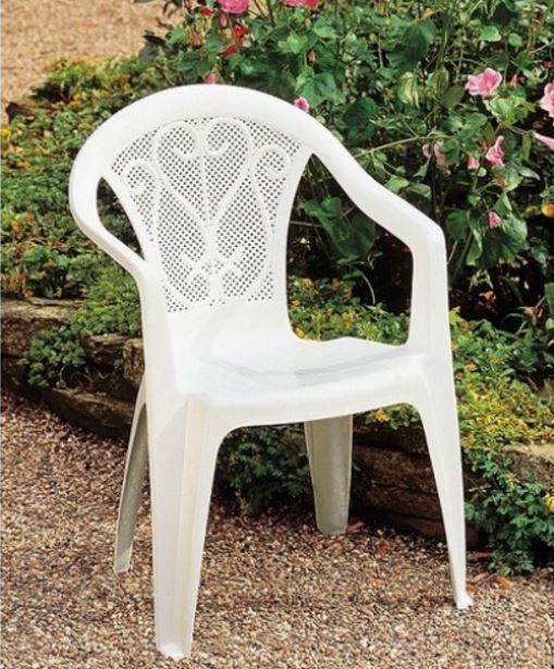 Кресло Ole белое в саду