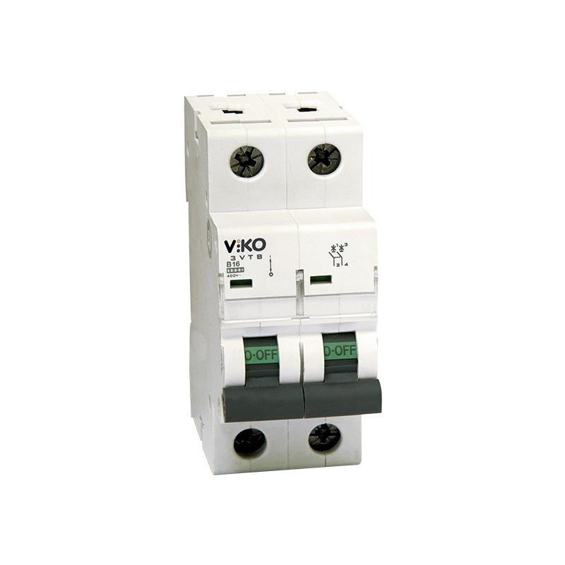 Автоматический выключатель 2р, 50А, С, 4,5кА VIKO