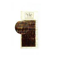 Ресницы Vie мультицветные MIX изгиб B, толщина 0,1