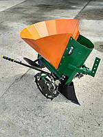 Картофелесажалка к мотоблоку с транспортировочными колесами