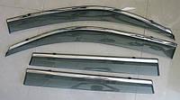 Дефлекторы окон ветровики на NISSAN Ниссан X-trail T31 ASP с молдингом нержавеющей стали