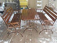 """Кованый набор садовой мебели. Качественное исполнение, ручная ковка. Покрытие металла и дерева красками """"Дюфа"""""""