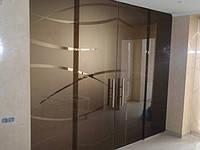 Стеклянная двухстворчатая дверь из бронзового закаленного стекла