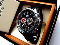 Мужские кварцевые часы BMW Quad серебро с черным