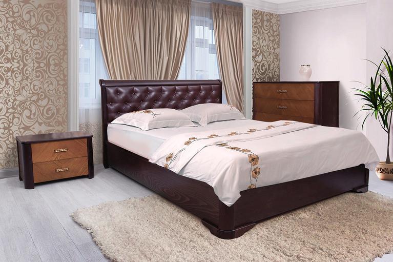 Кровать Ассоль с мягким изголовьем 160х200 Венге (Микс-Мебель ТМ)