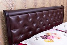 Кровать Ассоль с мягким изголовьем 160х200 Венге (Микс-Мебель ТМ), фото 2