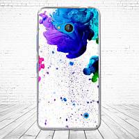 Чехол силиконовый бампер для Microsoft Lumia 640 с картинкой капли краски на белом фоне