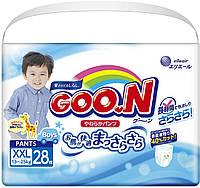 Трусики-подгузники GOO.N для мальчиков 13-25 кг (размер BigBig (XXL), 28 шт) (853084)
