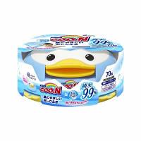 Влажные салфетки GOO.N для чувств.кожи (пласт.бокс-пингвин с секр.замком, смен. блок 70 шт) (733530)