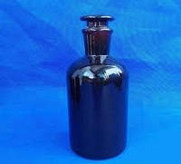 Бутыль 1000 мл с пришлифованной пробкой, узкое горло (темный)
