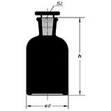 Бутыль 125 мл с пришлифованной пробкой, узкое горло (темный), фото 2