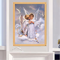 """Картина для рисования камнями Diamond painting Алмазная вышивка """"Дети ангелочки"""", фото 1"""