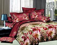 """Красивое полуторное постельное бельё """"Эвелина""""."""