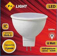 Светодиодная лампа MR16 6W 4200K 230V IC  F+Light