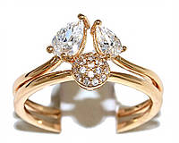 Кольцо фирмы Xuping. Цвет: позолота. Камни: белый циркон. Ширина кольца: 1 см. Есть 16 р. 17 р. 18 р. 19 р. 20