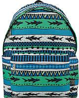 Красивый школьный рюкзак 19 л GoPack GO17-112M-5, сине-зеленый (узор)