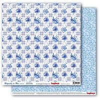 Бумага для скрапбукинга двустор Каменные узоры Сапфировые мечты  Scrapberry's, 1 шт