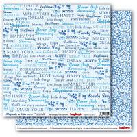 Бумага для скрапбукинга двустор Кружево Сапфировые мечты  Scrapberry's, 1 шт