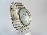 Жіночий годинник - браслет кераміка, білі з сріблом, фото 1
