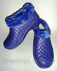 Галош зимний (женский) Эва синий  крок