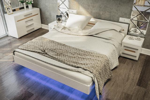 Спальня Бианко СМ Белый глянец
