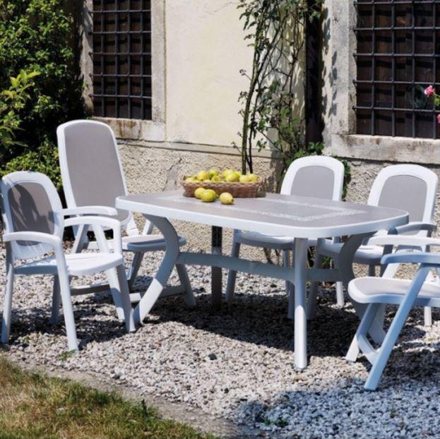 Кресло садовое BETA белое, серое в комплекте