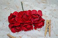 Букет розы (цена за букет из 6 шт). Цвет - красный