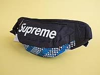 Бананка  черная Supreme с синим узором
