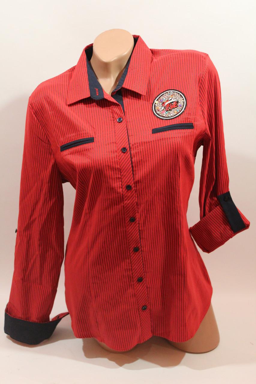 Женские батальные рубашки в клетку оптом ML, Cat. Турция