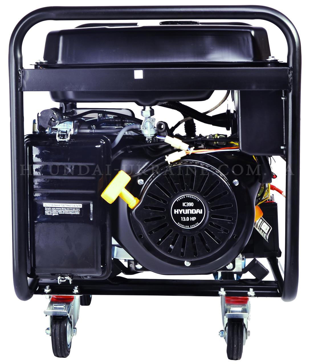 Бензиновый генератор hyundai hhy 7000fe регулируемый стабилизатор напряжения 220в купить