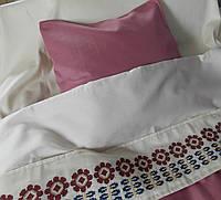 Детское постельное белье с вышивкой Гербера сатин терракот