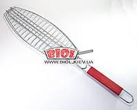 Решетка для гриля, барбекю (для рыбы) 38*15см
